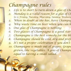 champagne rules
